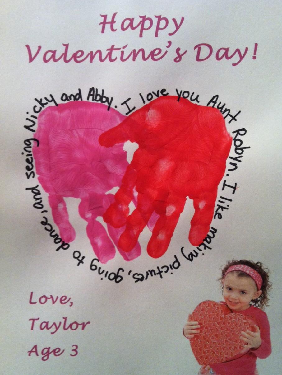 Valentine S Day Handprint Crafts The Suede Sofa