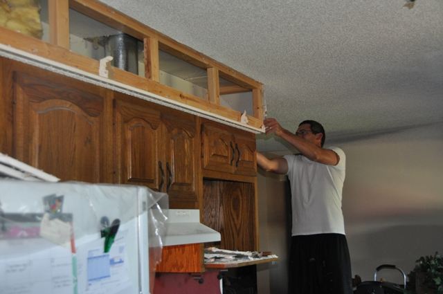 how to remove soffit above kitchen cabinets kitchen makeover tearing out more soffit the suede sofa 17346